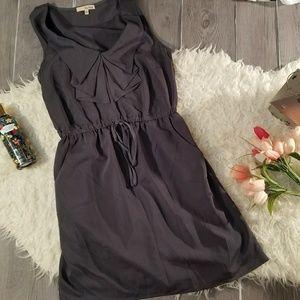 Be Bop Sz M Ruffle Neck Dress Front Pockets